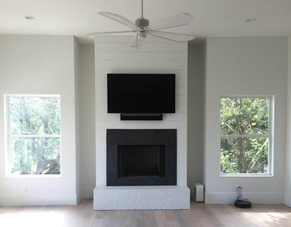 Finished AV integration in a residential home in Madisonville, Louisiana